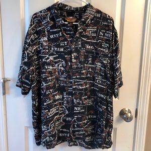 Vintage Harley Davidson Hawaiian Shirt XL